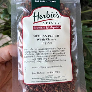 Herbies - Sichuan Pepper (Whole Chinese) 15g - Rosalie Gourmet Market