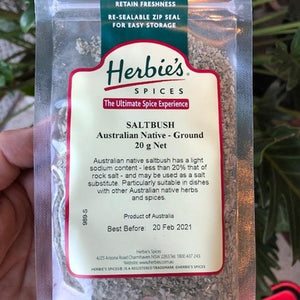 Herbies - Saltbush (Australian Native - Ground) 20g - Rosalie Gourmet Market