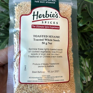 Herbies - Sesame Toasted Whole Seeds 50g - Rosalie Gourmet Market