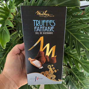 Mathez French Cacao Truffles - Sea Salt of Guerande 250g (with 15% off) - Rosalie Gourmet Market