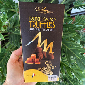 Mathez French Cacao Truffles - Salted Butter Caramel 250g (with 15% off) - Rosalie Gourmet Market