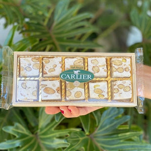 Carlier Soft Nougat - Vanilla with Almonds, Honey & Pistachios - Rosalie Gourmet Market