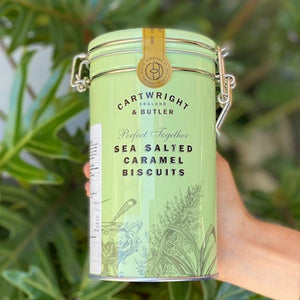 Sea Salted Caramel Biscuits - Cartwright & Butler (Tin) - Rosalie Gourmet Market