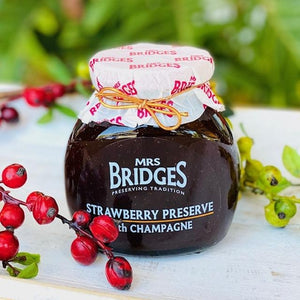 Strawberry Preserve with Champagne - Mrs Bridges 340g - Rosalie Gourmet Market