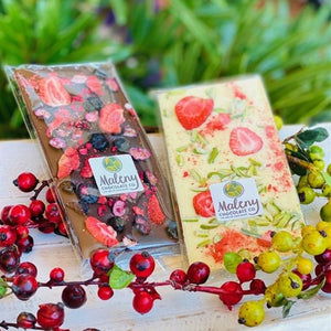 Maleny Chocolate Co - Summer Berries Dark 100g - Rosalie Gourmet Market