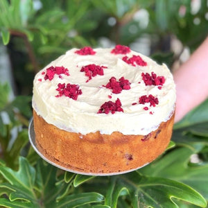 Raspberry Yoghurt Lemon Cake with Cream Cheese Frosting - Rosalie Gourmet Market