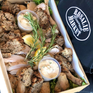 Free range roasted chicken platter (GF available on request) - Rosalie Gourmet Market