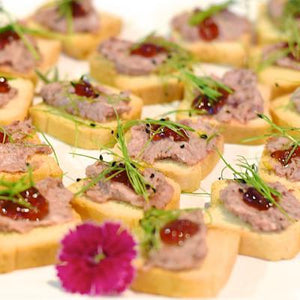 Crostini / Melba Toasts-Catering-Rosalie Gourmet Market-Duck terrine with red currant jelly-Rosalie Gourmet Market