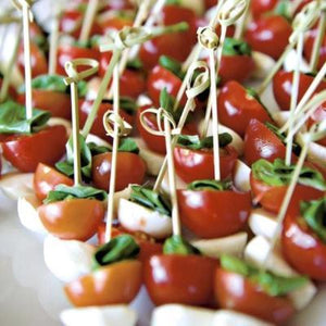 Other Cold Canapes-Catering-Rosalie Gourmet Market-Cherry tomato, baby bocconcini & basil skewers (2 pieces) (V)-Rosalie Gourmet Market