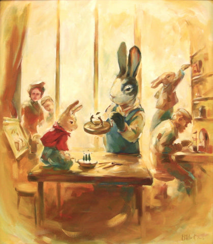 From Adelaide's Secret World, picture book (oils)
