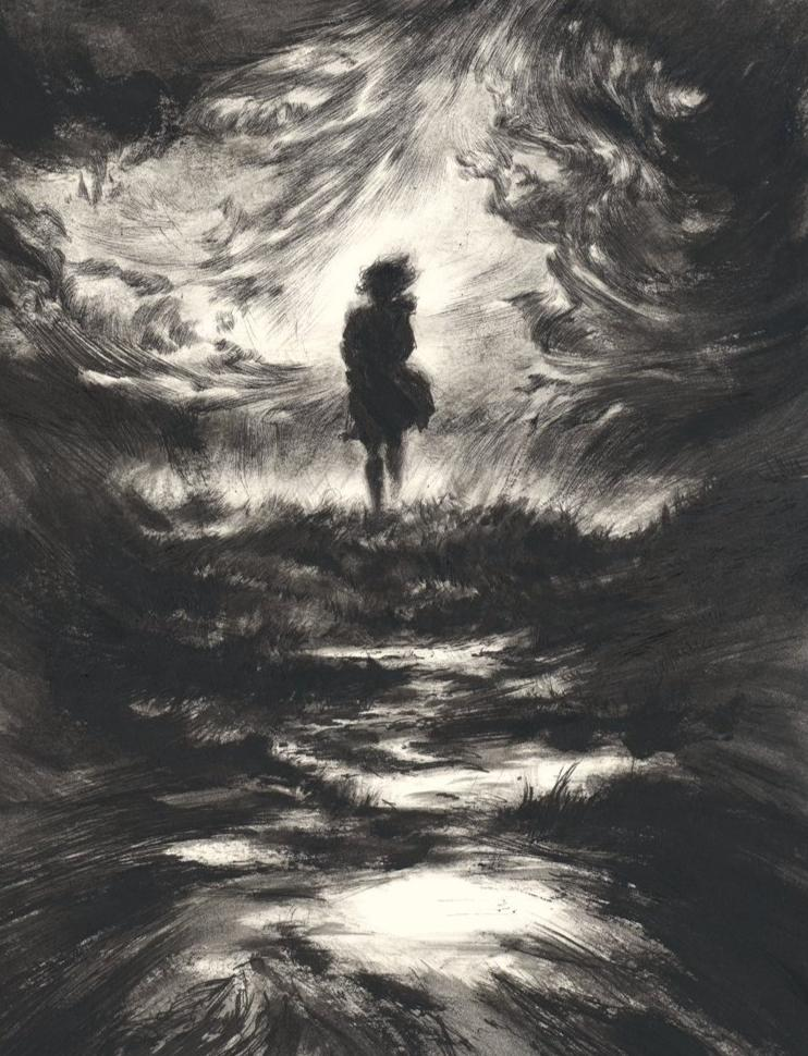 Lettie comes, illustration for The Ocean at the End of the Lane