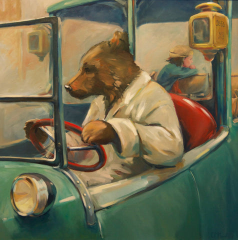 The last fare, oil painting