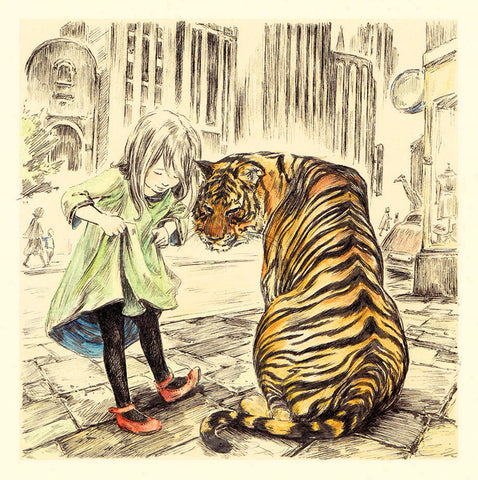 Tiger and the red shoes