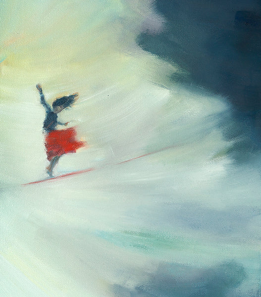 Walking in Air, illustration from Girl on Wire (oils)