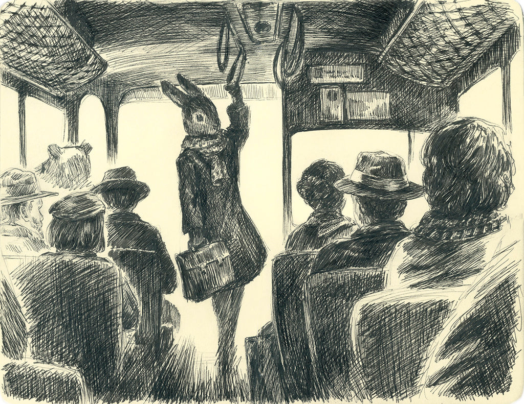 The Commute, artist's collection (pen)