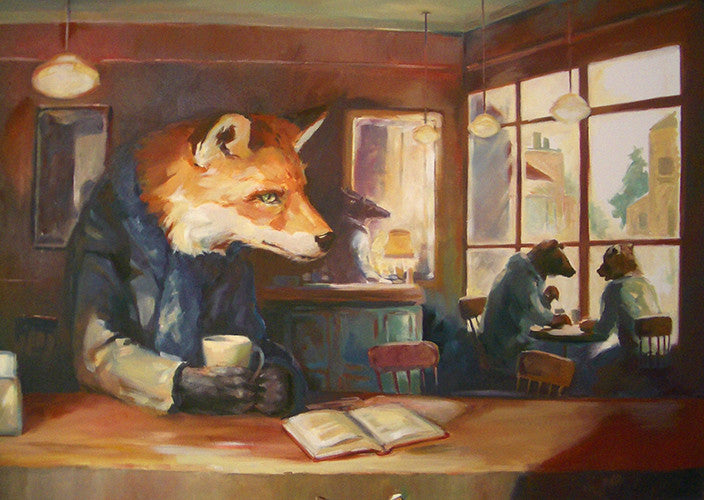 It was his favourite place to write. (oil painting)