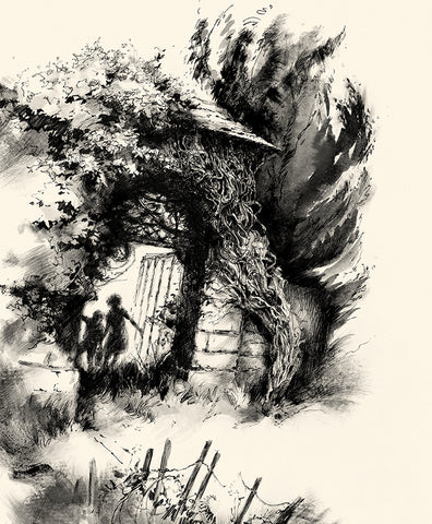 Secret Ways, illustration for The Ocean at the End of the Lane by Neil Gaiman