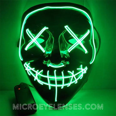 Micro® Eye Circle Lens Scary LED Light Up Mask - Green B01243