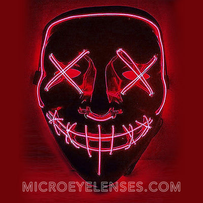 Micro® Eye Circle Lens Scary LED Light Up Mask - Red B01245