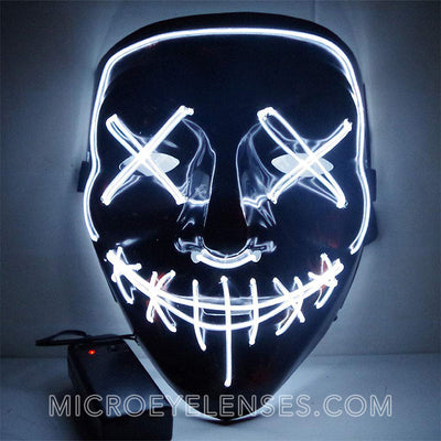 Micro® Eye Circle Lens Scary LED Light Up Mask - White B01240
