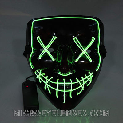 Micro® Eye Circle Lens Scary LED Light Up Mask - Light Green B01248