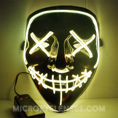Micro® Eye Circle Lens Scary LED Light Up Mask - Yellow B01246