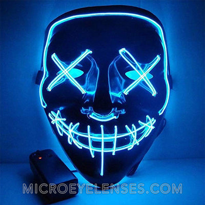 Micro® Eye Circle Lens Scary LED Light Up Mask - Blue B01247