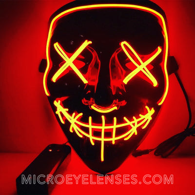 Micro® Eye Circle Lens Scary LED Light Up Mask - Orange B01242