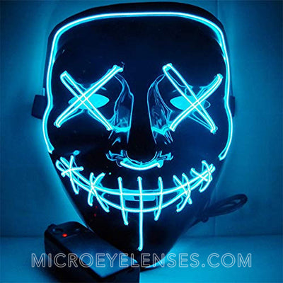 Micro® Eye Circle Lens Scary LED Light Up Mask - Light Blue B01241