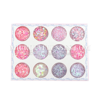 Micro® Eye Circle Lens Microeyelenses Eye Makeup Sequins Suit 5 B02152