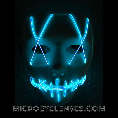 Micro® Eye Circle Lens Sewed Mouth LED Light Up Mask B01261