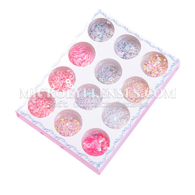 Micro® Eye Circle Lens Microeyelenses Eye Makeup Sequins Suit 6 B02153