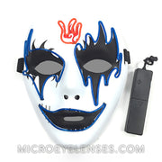 Micro® Eye Circle Lens Ghosts LED Light Up Mask - Clear Blue B01259
