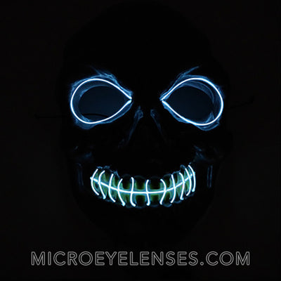 Micro® Eye Circle Lens Zombie LED Light Up Masks B01258