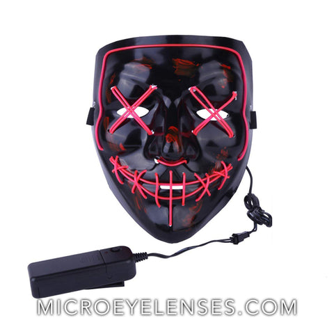 Micro® Eye Circle Lens Scary LED Light Up Mask - Pink B01244