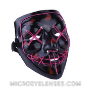 Micro® Eye Circle Lens Scary LED Light Up Mask - Purple B01249