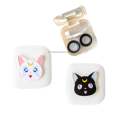 Micro® Eye Circle Lens Cartoon Cat Contact Case B01567