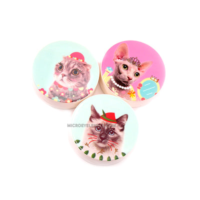Micro® Eye Circle Lens Cute Cat Contact Case B01565