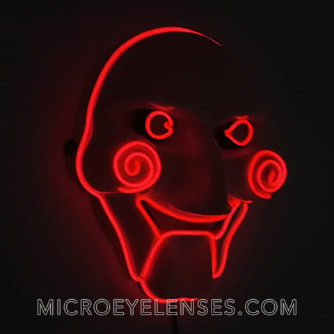 Micro® Eye Circle Lens Saw LED Light Up Masks B01252