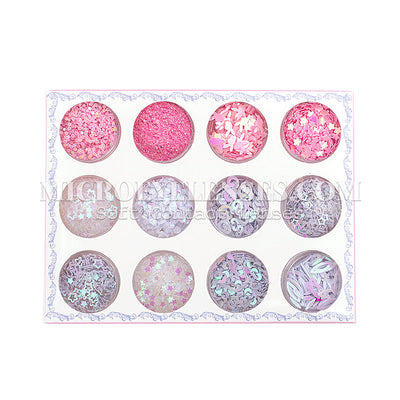 Micro® Eye Circle Lens Microeyelenses Eye Makeup Sequins Suit 3 B02150