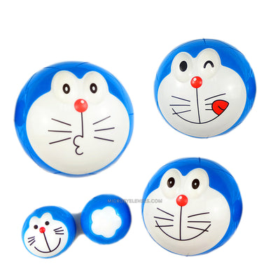 Micro® Eye Circle Lens Doraemon Round Face Contact Case B01564