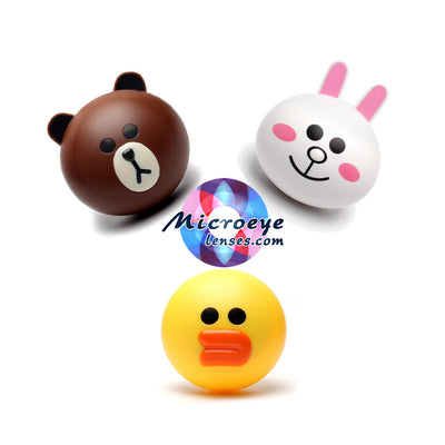 Micro® Eye Circle Lens Line Friends Contact Case B0480