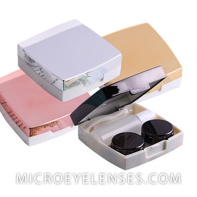 Micro® Eye Circle Lens Square Mirror Contact Case B01880