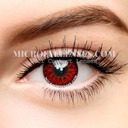Micro® Eye Circle Lens Single Demon Red Cosplay Colored Contacts Lens M004