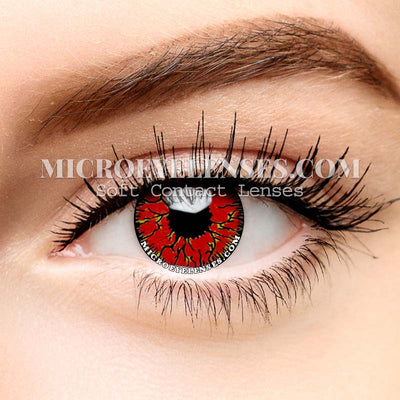 Micro® Eye Circle Lens Crack Red Cosplay Colored Contacts Lens M0101