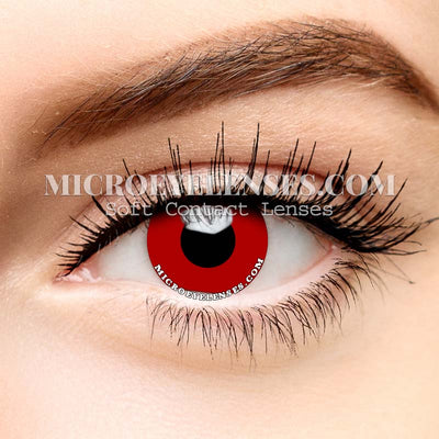 Micro® Eye Circle Lens Pure Red Cosplay Colored Contacts Lens M0102