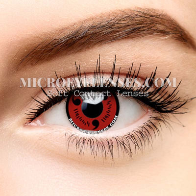 Micro® Eye Circle Lens Sharingan Magatama Red Cosplay Naruto Colored Contacts Lens M0105