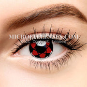 Micro® Eye Circle Lens Sharingan Sasuke Black Red II Cosplay Naruto Colored Contacts Lens M0106