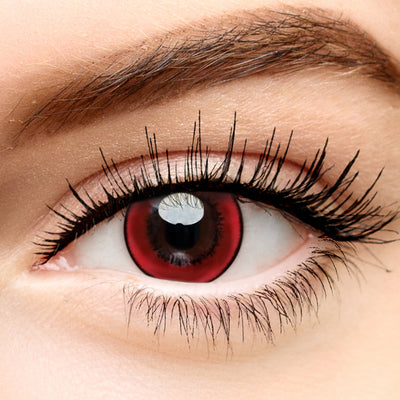 Micro® Eye Circle Lens Harajuku Storm Red Cosplay Colored Contact Lenses M01071