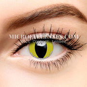 Micro® Eye Circle Lens Cat's Eye Yellow Cosplay Colored Contacts Lens M0108